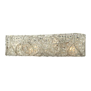 Aged Silver Andalusia Collection 4-Light bath