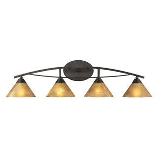 Aged Bronze Elysburg Collection 4-Light Vanity