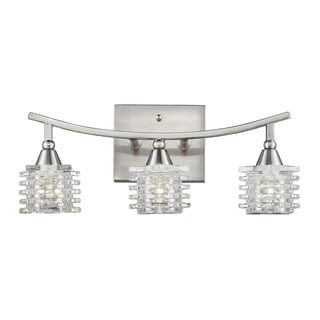 Satin Nickel Matrix Collection 3-Light Bathbar