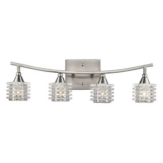 Satin Nickel Matrix Collection 4-Light Bathbar