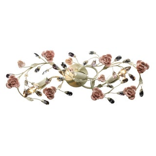 Cream and Porcelain Roses Heritage Collection 3-Light Vanity
