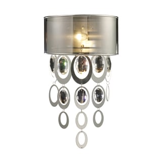A Silver Leaf Finish Parisienne Collection 1-Light Sconce
