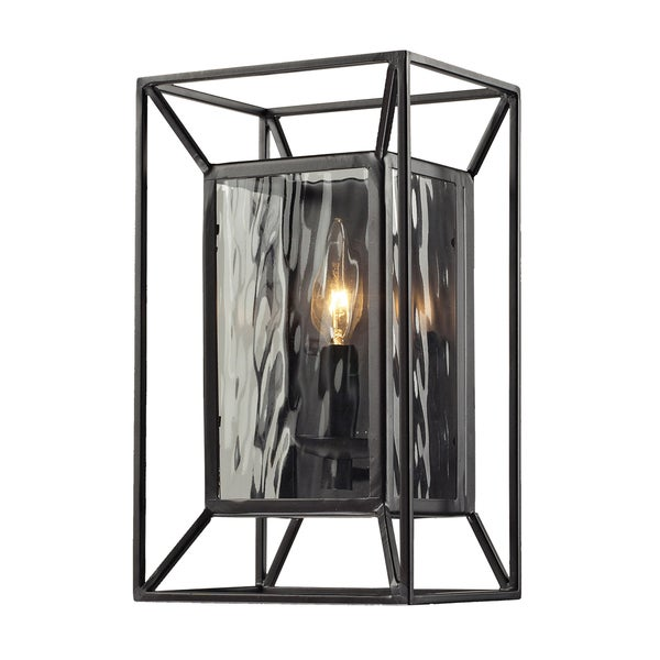 Oiled Bronze Cubix Collection 1-Light Sconce