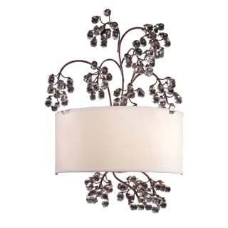 Antique Dark wood Winterberry Collection 2-Light Sconce