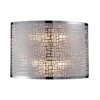 Polished Stainless Steel Medina Collection 2-Light Sconce
