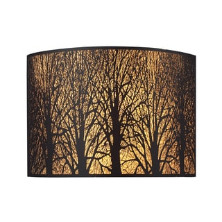 Aged Bronze Woodland Sunrise Collection 2-Light Sconce
