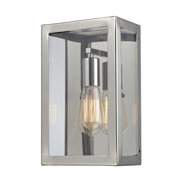 Polished Chrome Parameters Collection 1-Light Wall Sconce