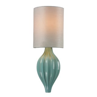 Seafoam and Aged Silver Lilliana Collection 1-Light Sconce