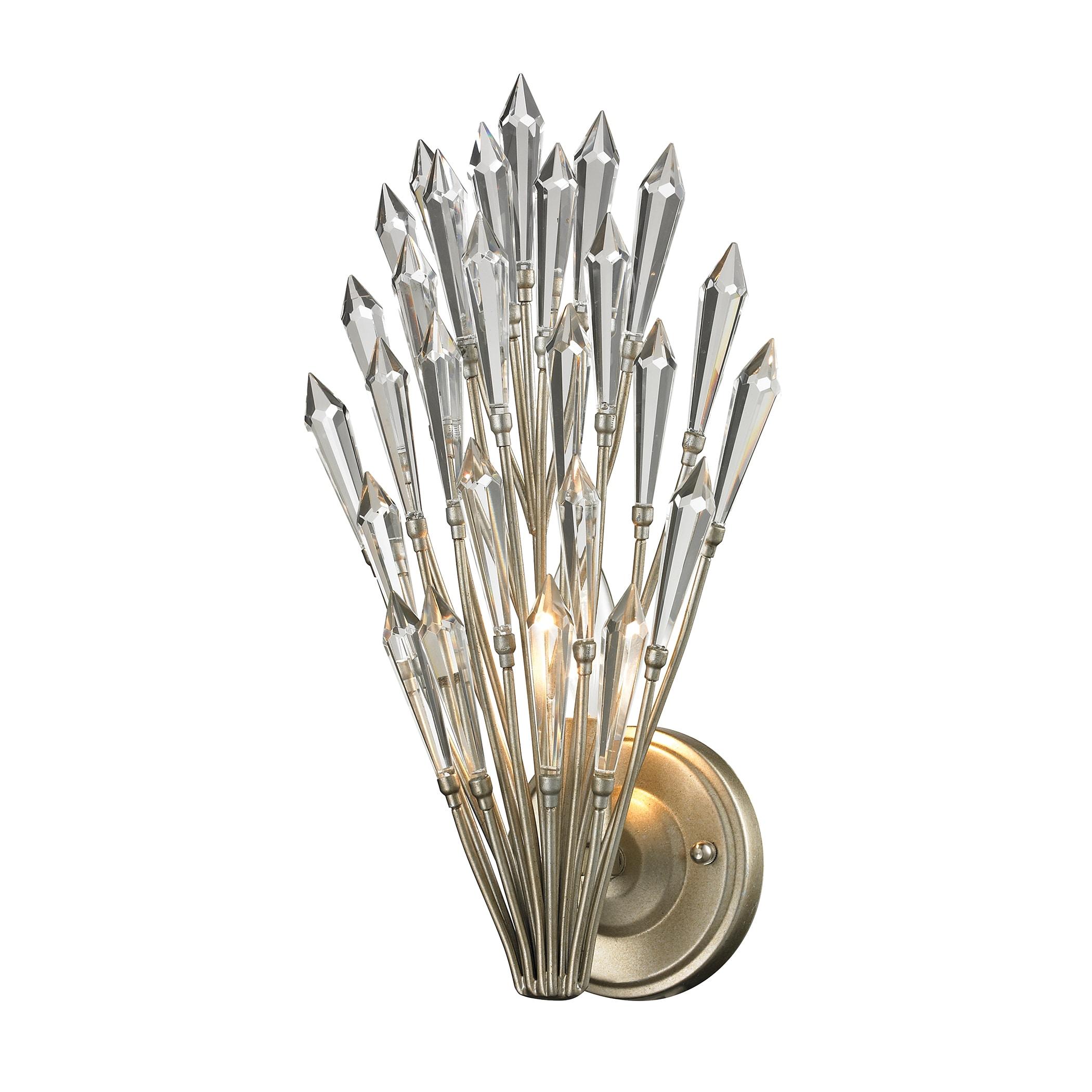 Elk Lighting Aged Silver Viva Collection 1-Light sconce (...