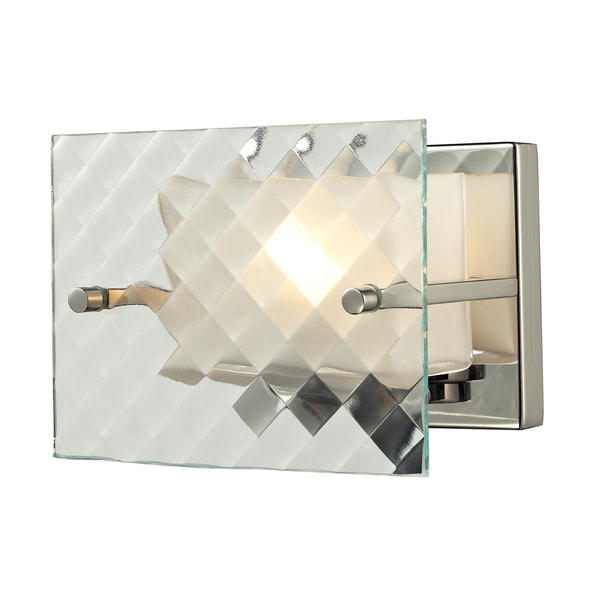 Brushed Nickel Talmage Collection 1-Light bath