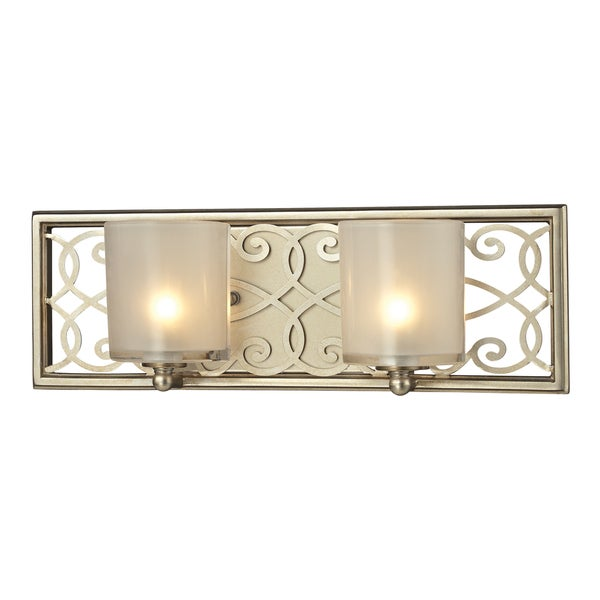Elk Lighting Andalusia: Shop Aged Silver Santa Monica Collection 2-Light Bath