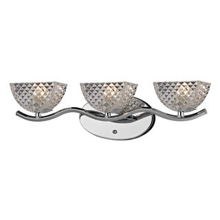 Polished Chrome Contour Collection 3-Light bath