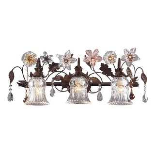 Deep Rust Cristallo Fiore 3-Light Vanity