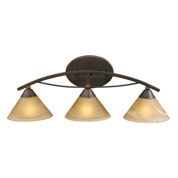Aged Bronze Elysburg Collection 3-Light Vanity