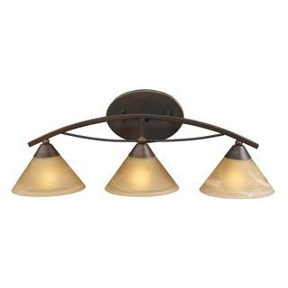 Aged Bronze Elysburg Collection 3-Light Vanity