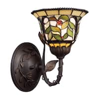 Tiffany-style Bronze Latham Collection 1-Light Sconce