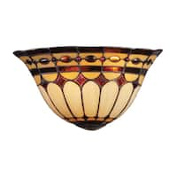 Burnished Copper Diamond Ring Collection 2-Light Sconce
