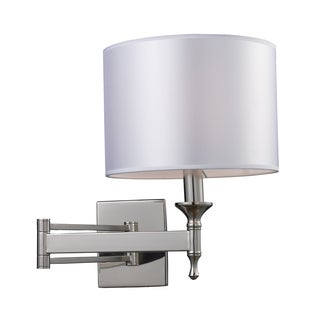 Polished Nickel Pembroke Collection 1-Light Sconce Swing Arm