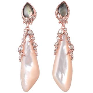 De Buman 18k Yellow Gold Plated or 18k Rose Gold Plated Mother of Pearl and Grey Shell Earrings https://ak1.ostkcdn.com/images/products/9930952/P17087051.jpg?impolicy=medium
