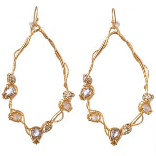 De Buman 18k Yellow Gold Plated or 18k Rose Gold Plated Mother of Pearl and Crystal Earrings https://ak1.ostkcdn.com/images/products/9930957/P17087056.jpg?impolicy=medium
