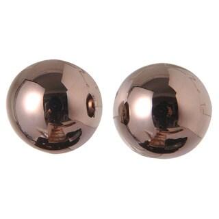 De Buman 18k Gold Plated 'Ball' Stud Earrings