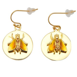De Buman 18k Yellow Gold Plated Earrings