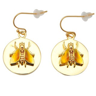 De Buman Yellow Gold Plated Earrings