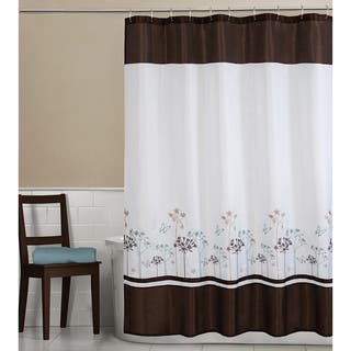 beige and brown shower curtain. Maytex Angelina Embroidered Fabric Shower Curtain Brown Curtains For Less  Overstock com Vibrant
