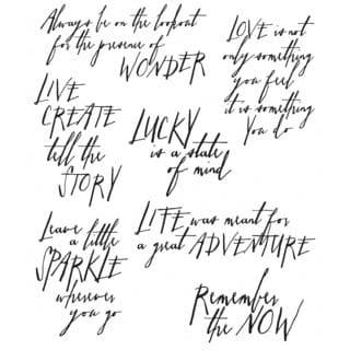 """Tim Holtz Cling Rubber Stamp Set 7""""X8.5""""-Handwritten Thoughts"""