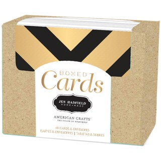 "Pebbles A2 Cards & Envelopes (4.25""X5.5"") 40/Pkg-Jen Hadfield-Gold Foil"