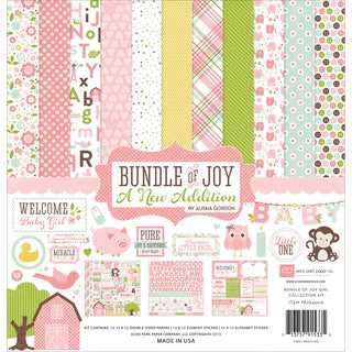"Echo Park Collection Kit 12""X12""-Bundle Of Joy/A New Addition - Baby Girl"
