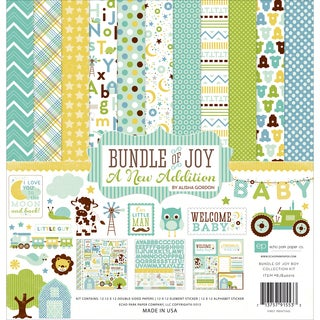 "Echo Park Collection Kit 12""X12""-Bundle Of Joy/A New Addition - Baby Boy"