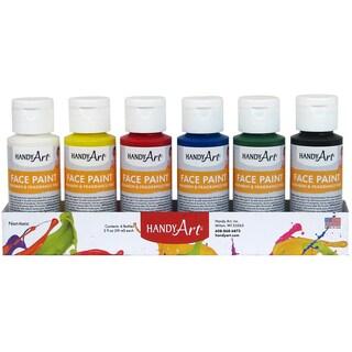 Handy Art Tempera Face Paint 2oz 6/Pkg-Primary
