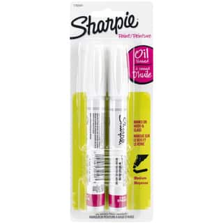 Sharpie Medium Point Oil-Based Opaque Paint Markers 2/Pkg-White https://ak1.ostkcdn.com/images/products/9931843/P17087837.jpg?impolicy=medium