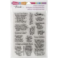 "Stampendous Perfectly Clear Stamps 4""X6"" Sheet-Sisters"