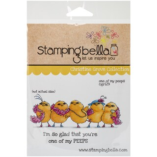 "Stamping Bella Cling Rubber Stamp 3.75""X5""-One Of My Peeps"