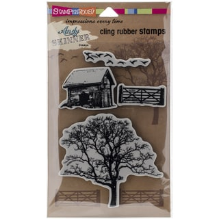 """Stampendous Andy Skinner Cling Stamp 5""""x7"""" Sheet-Nature Set"""