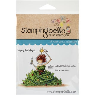 "Stamping Bella Cling Rubber Stamp 3.75""X5""-Uptown Girl Savannah Has A Star"