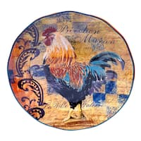 Rustic Rooster Round Serving Platter