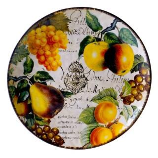 Hand-painted Botanical Fruit 15-inch Round Platter
