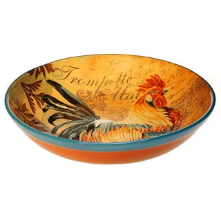 Rustic Rooster Pasta/ Serving Bowl