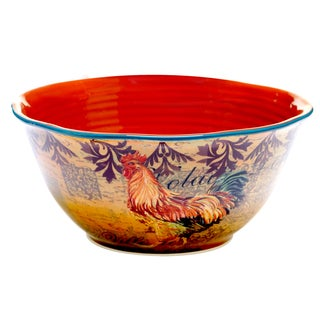 Rustic Rooster Deep Bowl