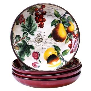 Botanical Fruit Soup/ Cereal Bowls (Set of 4)