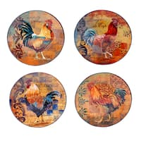Certified International Rustic Rooster 11-inch Dinner Plates, Set of 4
