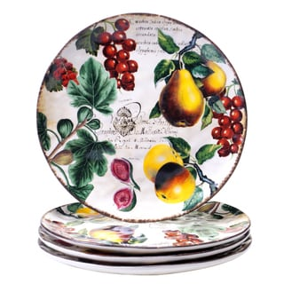 Botanical Fruit 10.75-inch Dinner Plate (Set of 4)