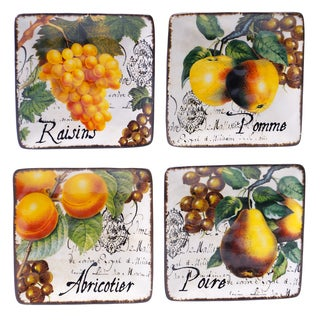 Botanical Fruit 6-inch Canape Plate (Set of 4)