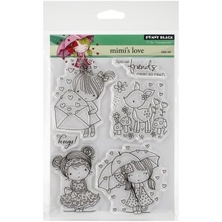 """Penny Black Clear Stamps 5""""X6.5"""" Sheet-Mimi's Love"""