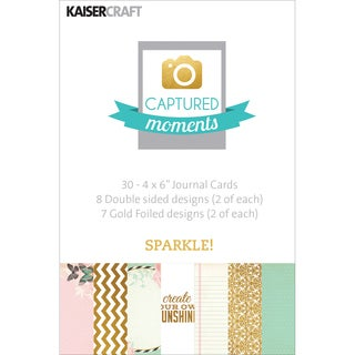 """Captured Moments Double-Sided Cards 6""""X4"""" 30/Pkg-Sparkle! W/Some Gold Foiled Designs"""