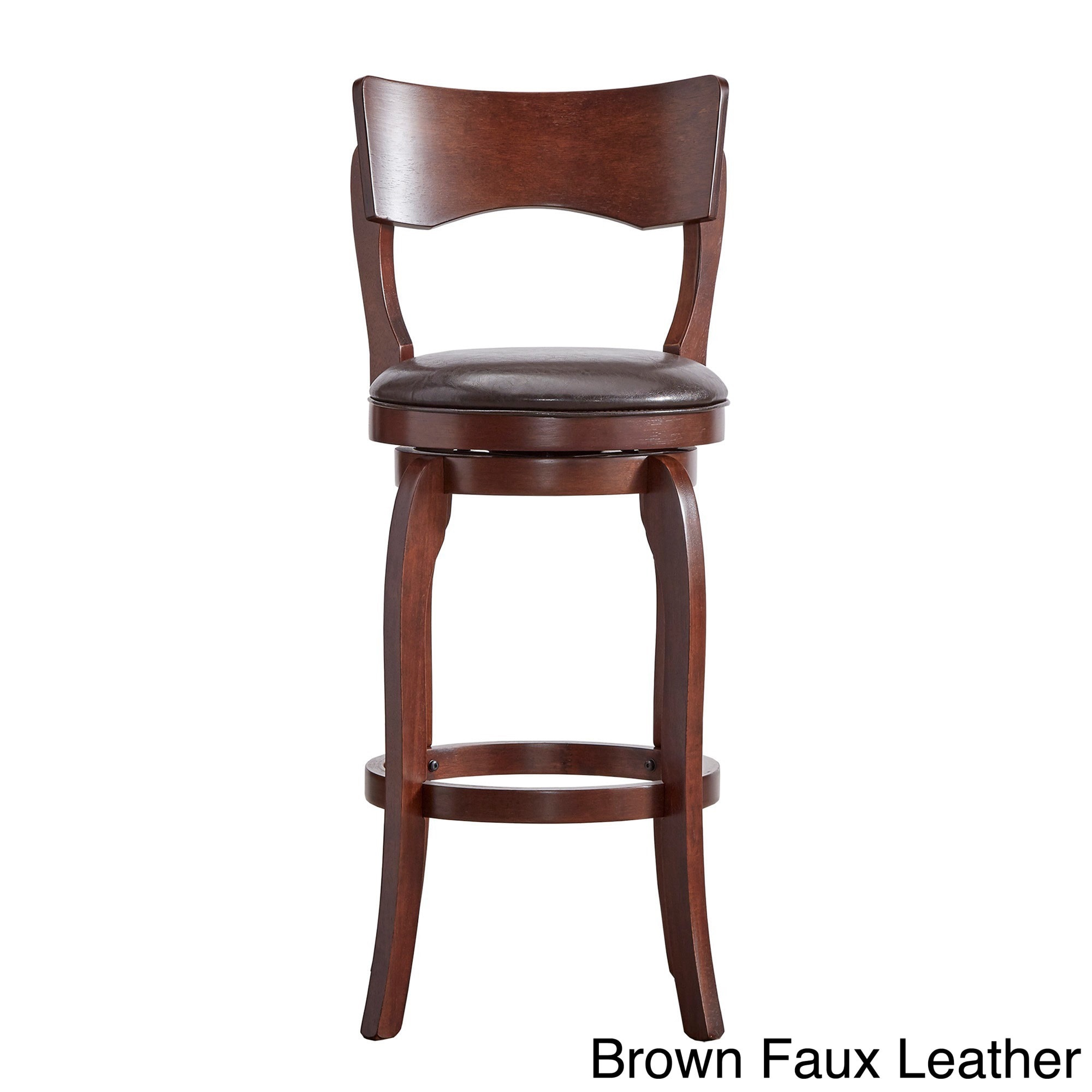 Lyla Swivel 29 Inch Brown Oak High Back