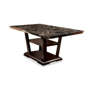Furniture of America Elivia Modern Faux Marble Dining Table